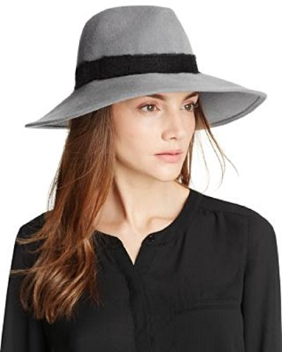 Eugenia Kim Gray Emmanuelle Wide-Brim Fedora by Eugenia Kim