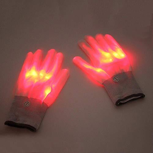 cherrysong Light Up LED Luminous Gloves, LED Gloves, Light Up Hand Gloves, Multicolor LED Glove, for Festivals/Halloween/Christmas/Bonfire Night/Party/Games/Running/Sports/Gift