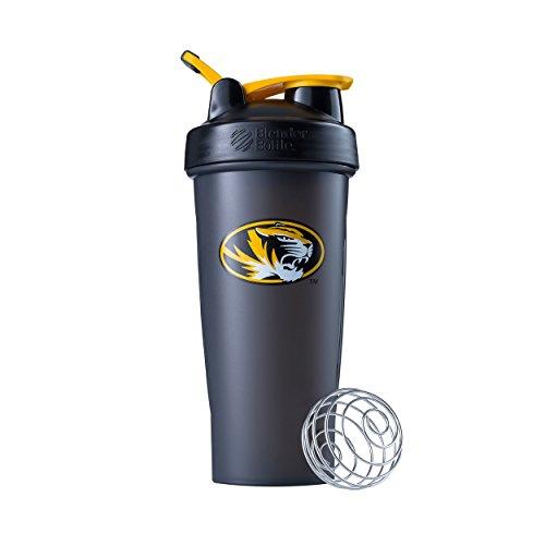 BlenderBottle Collegiate Classic 28-Ounce Shaker Bottle, University of Missouri Tigers - Black/Black