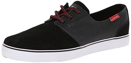 C1RCA Men's Crip Synthetic Fashion Sneaker,Black/White/Pompeian Red,9 M (C1rca Footwear Sneakers)