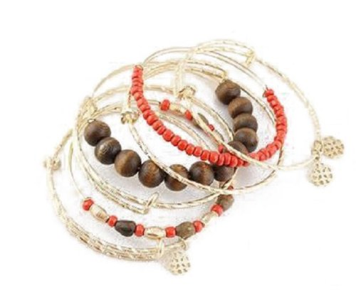 HotEnergy Multilayer Natural Fashion Pine Bead Bohemian Bracelet