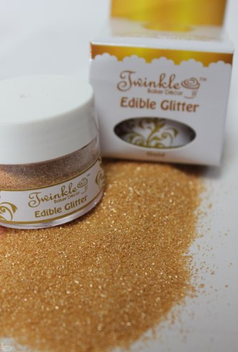 Fully Edible Cake Decoration Glitter :: Hologram Jewel Gold :: Perfect for Cakes and Cupcakes