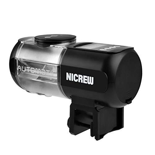 NICREW Automatic Aquarium Fish Feeder, Fish Food Dispenser for Fish Tank, Battery Operated Food Timer for Aquarium