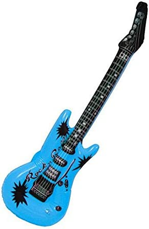 Amazon.com: Rocking Azul Eléctrico Guitarra hinchable Party ...