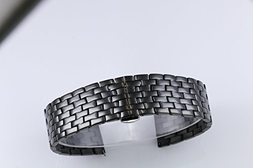23mm Wide Changeable Watch Belt Bracelets for Men Black Metal Watch Bands Stainless Steel by autulet (Image #1)