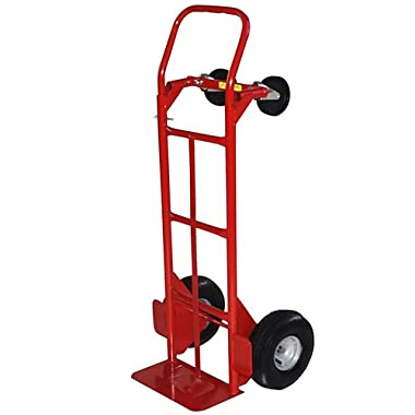 Milwaukee Hand Trucks 49180 Convertible Truck with 10-Inch Pneumatic Tires