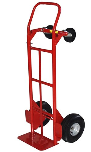 Milwaukee Hand Trucks 49180 Convertible Truck with 10-Inch Pneumatic Tires ()