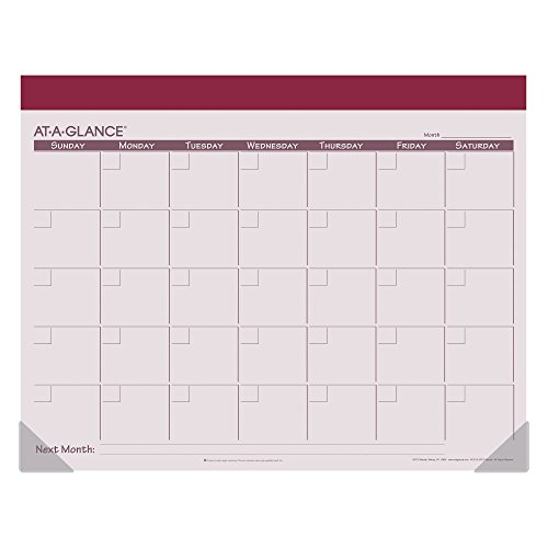 AT-A-GLANCE Undated Fashion Color Desk Pad 2016, 12 Months, 22 x 17 Inch Page Size, Color Will Vary (SK22510) Photo #3