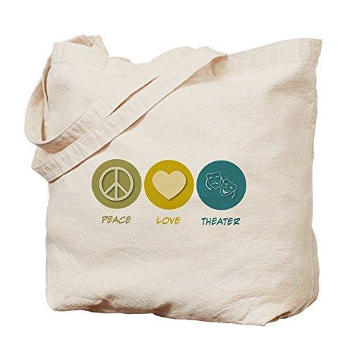 CafePress–Pace Love Theater–Borsa di tela naturale, panno borsa per la spesa