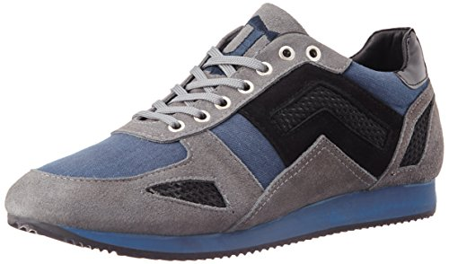 Galliano Men's Grey Leather Sneakers