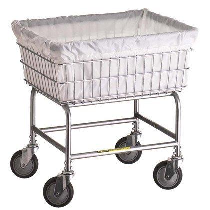 141 R&B Wire Clear Vinyl Basket Liner for E,D,G Baskets - Not Flame - R&b Laundry Carts