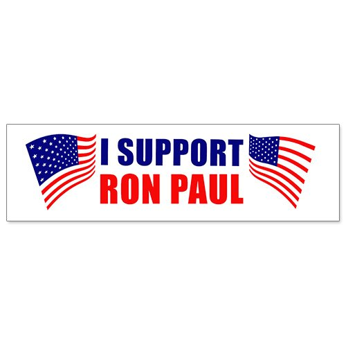 Car Bumper Sticker - I Support Ron (Ron Paul Support)