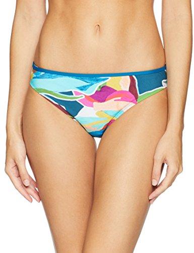 La Blanca Women's Hipster Bikini Swimsuit Bottom, Green/Floral Print, 12