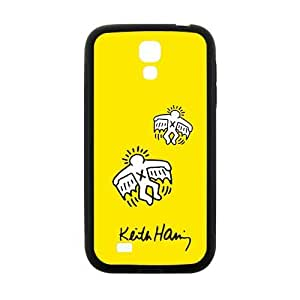 Canting_Good Custom Painted ZQ Keith Haring Yellow Case Cover for SamSung Galaxy S4 I9500 (Laser Technology)