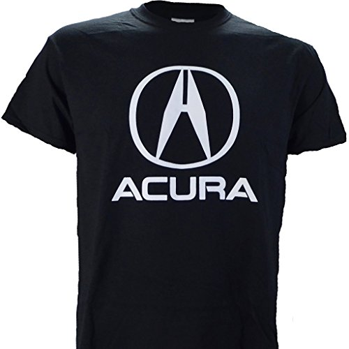 Acura Logo On A Black T Shirt  L
