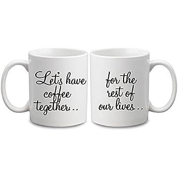 amazon com funny coffee mugs for couples quote coffee mug with