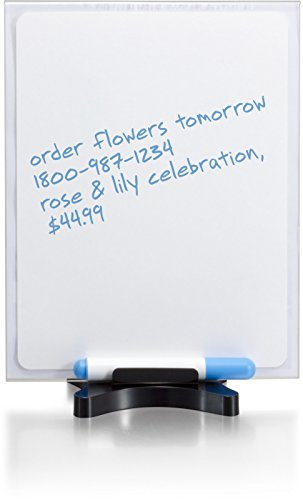 Officemate OIC Premium Dual Sign Holder and Dry Erase White Board, Letter Size, Black/Clear -