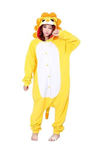 Sqlszt Lion Onesie Animal Adult One Piece Cosplay Pajamas Costume for Women Men M ()