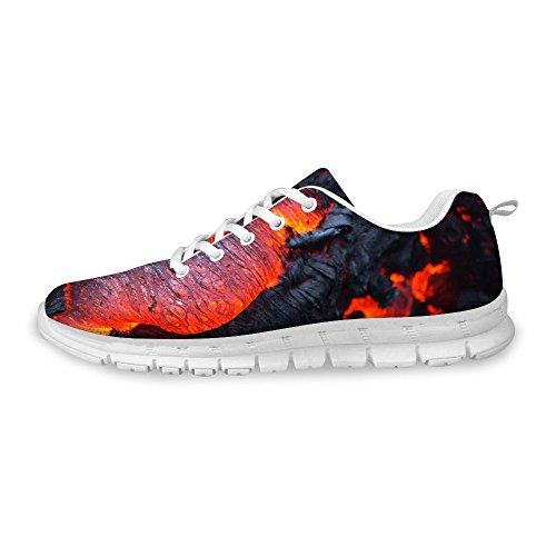 FOR U DESIGNS Fashion Unisex Flex Gusto Runner Mesh Breathable Train Sneaker Running Shoes Gray 2 BpkXS
