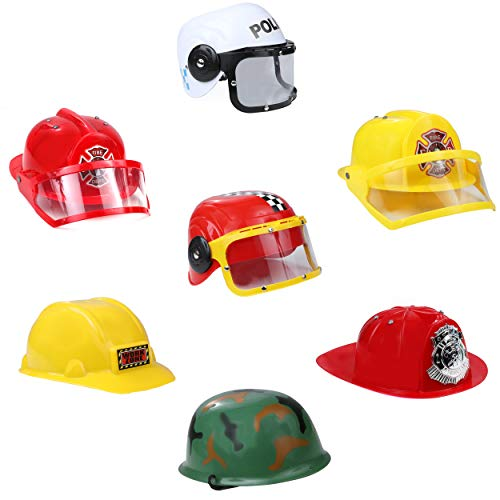 Costume Hats For Kids (IQ Toys Set of 7 Role Play Dress up)