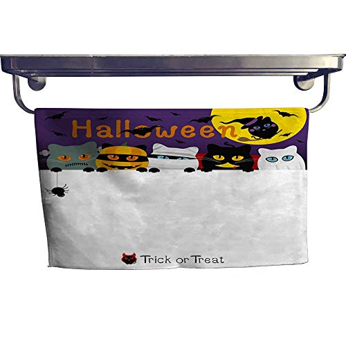 (warmfamily Sports Ttowel Halloween Cats Costume Banner Design with Copy Space Vector Illustration Towel W 14