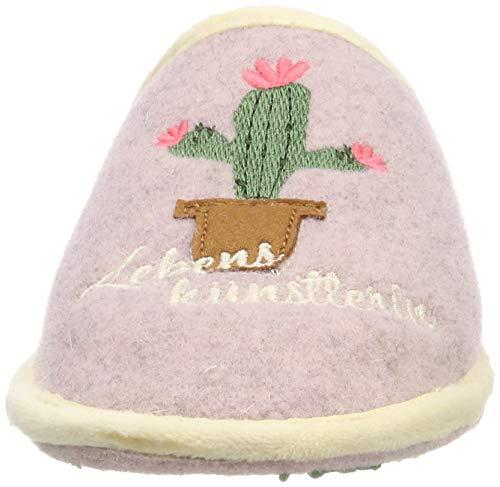 Lebenskünstlerin Mujer Adelheid 613 Rosa puderrosa Para Pantuflas Filzpantoffel dzz7wnqPR