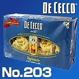 ディチェコ (DE CECCO) No.203 タリアテッレ ニーディ セモラ 500g