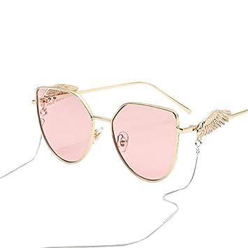 Burenqi Star Produkte Square Sonnenbrille Vintage Trends Kette Wing Sonnenbrille UVA-UVB, G