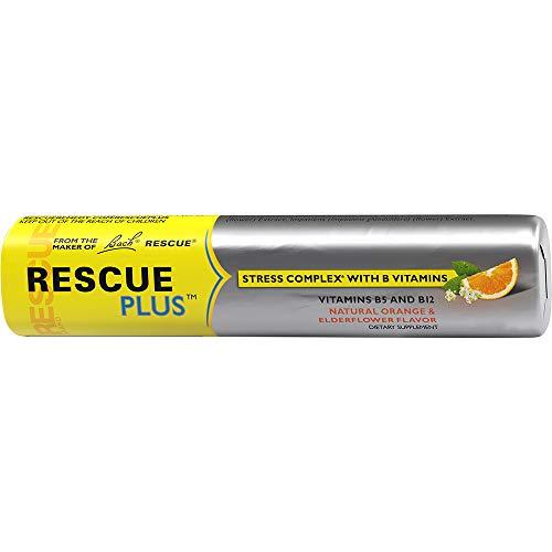 Rescue Plus Lozenges Sugar Free, Original Orange & Elderflower, 10 Count ()