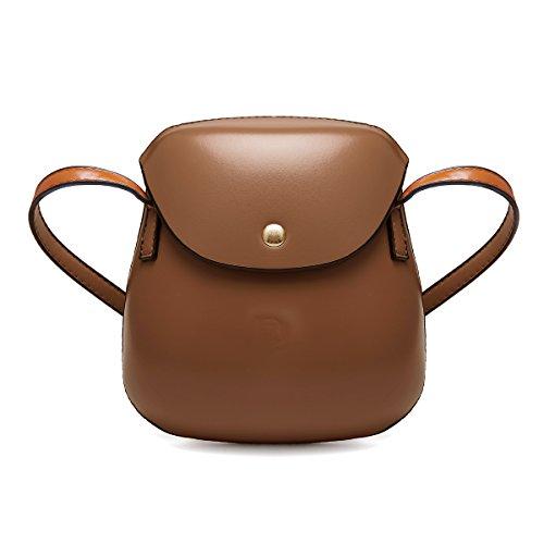 Gracosy - Bolso estilo cartera para mujer, rosa (rosa) - GRACOSYmukidass998 marrón