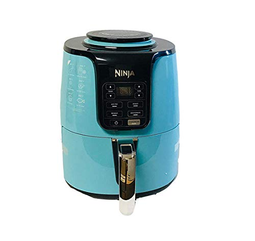 New Ninja Digital Air Fryer 4 quarts Basket Capacity / 1550 watts Base AF101Q (Renewed) (Blue)