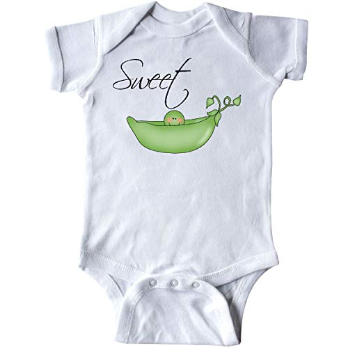 inktastic Sweet Pea Infant Creeper Newborn White -