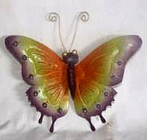D-Art Collection Iron Butterfly Wall Decor, Small -