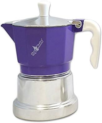 Top Moka Cafetera top03 Lila-Plata: Amazon.es: Hogar