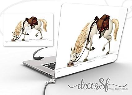 Don Quijote Caballo Macbook–Adhesivo decorativo para macbook 13inch–Funda para MacBook de Vinilo–Macbook Wrap- adhesivos para macbook–vinilo negro/mejor pegatinas–pegatinas de flores–sólo