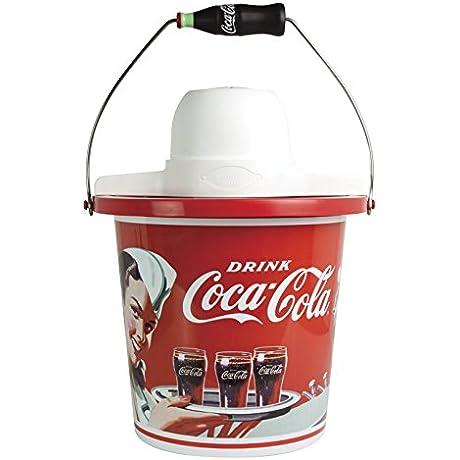 Nostalgia ICMP400COKE Coca Cola 4 Quart Ice Cream Maker