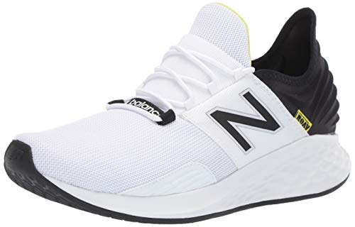 New Balance Men's Roav V1 Fresh Foam Running Shoe, White/Black, 10.5 D US