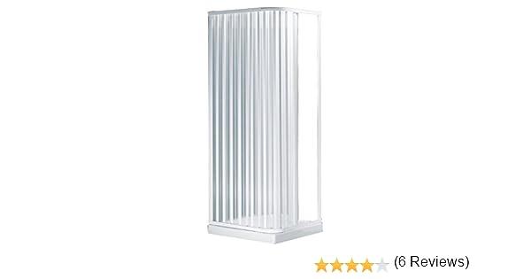 negrari S2B80 pared de cabina de ducha, con 2 puertas móviles, de PVC, transparente, 80 x 80 x 184 cm: Amazon.es: Bricolaje y herramientas