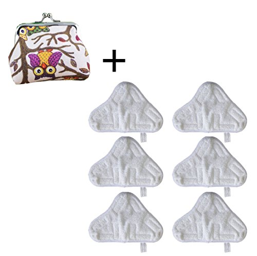 SUN Microfibre Steam Mop FLoor Washable Replacement Thick Pads For H2O H20 X5 -6 PACK (H20 Hand Held Steamer)