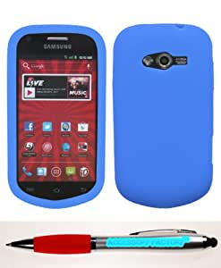 Accessory Factory(TM) Bundle (Phone Case, 2in1 Stylus Point Pen) SAMSUNG M950 (Galaxy Reverb) Solid Skin Cover (Dark Blue)