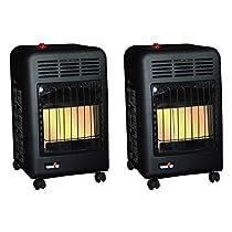 Mr. Heater 18000 BTU Radiant Propane Cabinet Outdoor Space Heater (2 Pack)