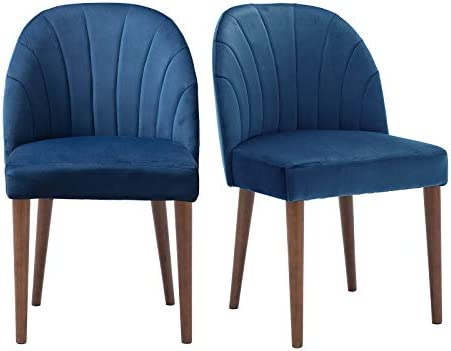 ZH4YOU Contemporary Velvet Dining Chair Set of 2