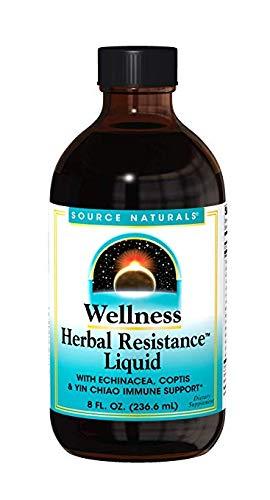 Source Naturals Wellness Herbal Resistance Liquid Immune Defense Supplement & Immunity Booster with Echinacea, Elderberry & Yin Chiao – 8 OZ