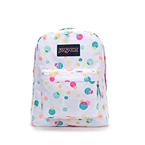 JanSport Superbreak Backpack - 1550cu in Pink Pansy Confetti Dots, One Size