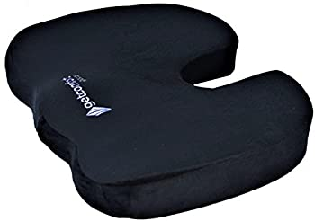 GetComfort Ergonomic Coccyx Cushion Pillow for Pain Relief. Thick Orthopedic Memory Foam Seat Cushion that Wont Go Flat