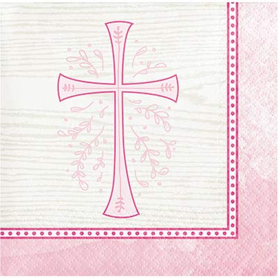 Creative Converting 335459case Divinity Pink Beverage Napkins 5,