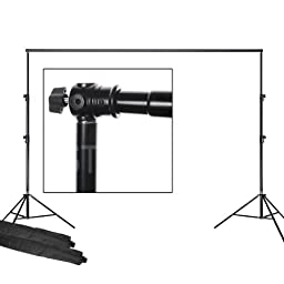 PBL 12ft Backdrop Background Support System, Heavy Duty, Air Cushioned, Adjustable Crossbar