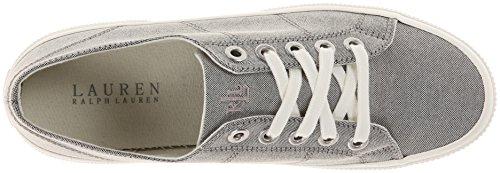 Lauren Ralph Lauren Womens Jolie Fashion Sneaker Tessuto Grigio Oxford
