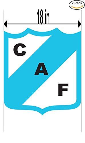 fan products of Club Atletico Ferrocarril de Concordia Argentina Soccer Football Club FC 2 Stickers Car Bumper Window Sticker Decal Huge 18 inches