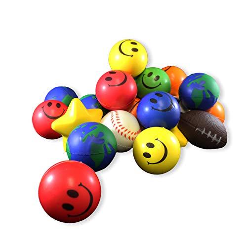 Squeezable Balls (Totem World 25 Toy Assortment Stress Balls - 2.5